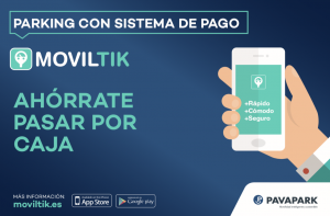 Moviltik, app disponible también para pagar en los parkings
