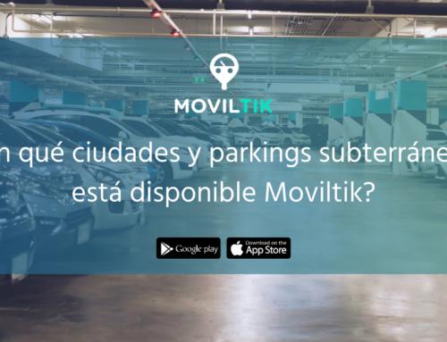 ¿En qué ciudades y parkings subterráneos está disponible Moviltik?